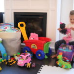 Baby with lots of toys