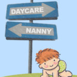 Nanny vs. Daycare image of baby crawling